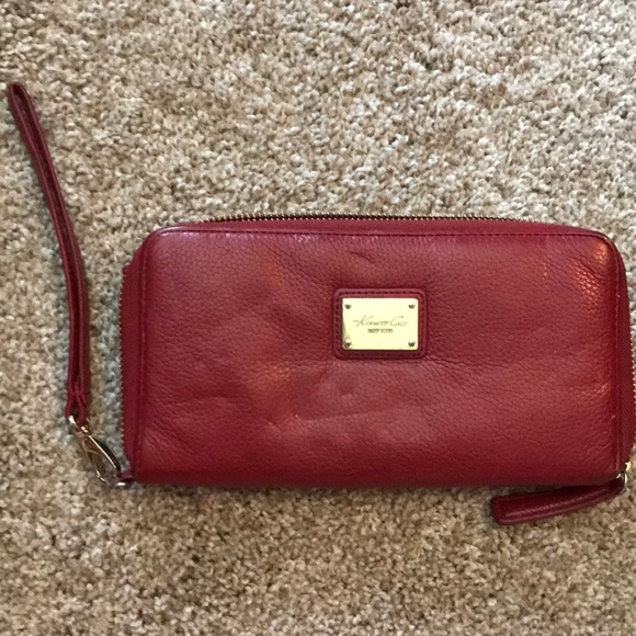 Kenneth Cole Handbags - Kenneth Cole red wallet